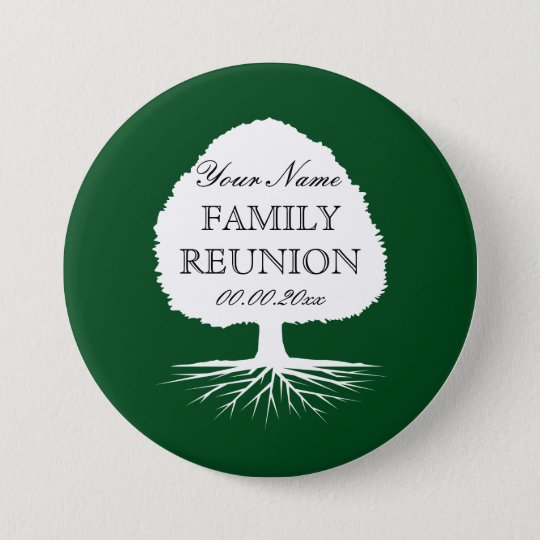 Personalised name family reunion party buttons