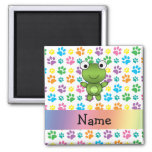 Personalised name frog rainbow paws
