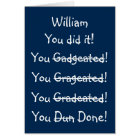 Personalised Name Funny Graduation Congratulations Card