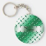 Personalised name green diamond plate steel