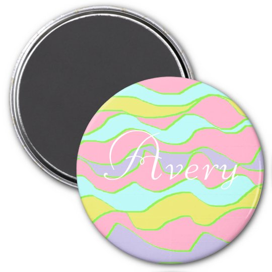 Personalised Name Magnet, Pink, Blue, Purple Avery 7.5
