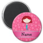 Personalised name mermaid pink flowers