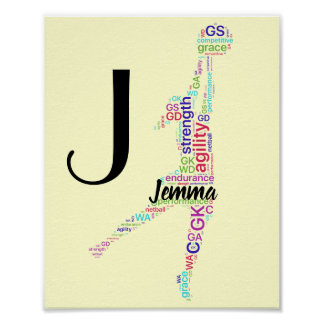 Personalised Name Motivational Netball Poster