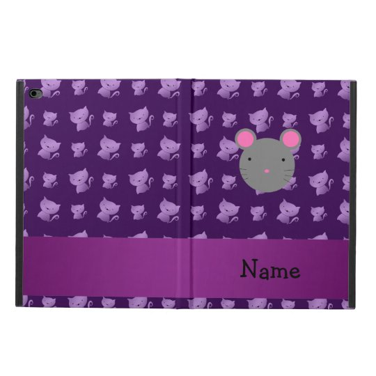 Personalised name mouse purple cats powis iPad air
