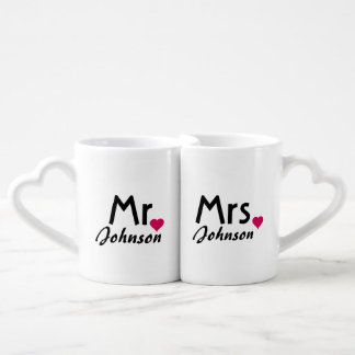 Lovers couple matching mugs from Zazzle