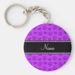 Personalised name neon purple hearts and paw print