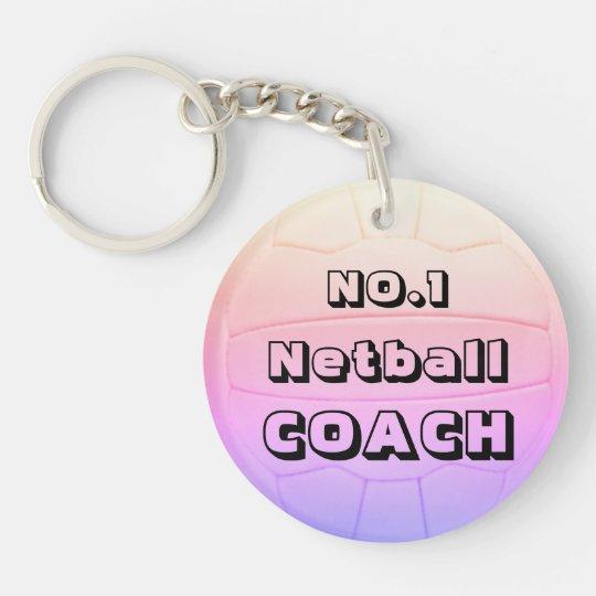 Personalised Name Netball Coach Key Ring