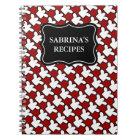 Personalised name notebook | recipe cookbook
