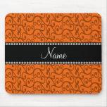Personalised name orange swirls