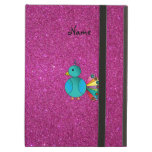 Personalised name peacock pink glitter iPad air cover