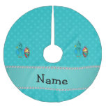 Personalised name peacock turquoise polka dots