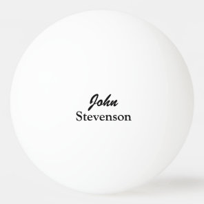 Personalised name ping pong balls for table tennis