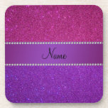 Personalised name pink and purple glitter