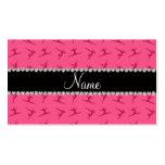Personalised name pink gymnastics pattern