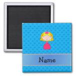 Personalised name princess blue hearts