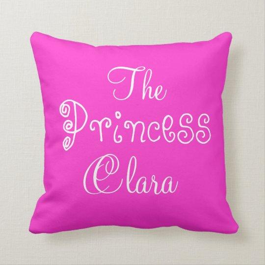 Personalised Name Princess Clara Pillow