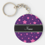 Personalised name Purple and Pink stars