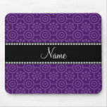 Personalised name purple retro flowers