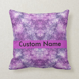 personalised name purple throw pillow