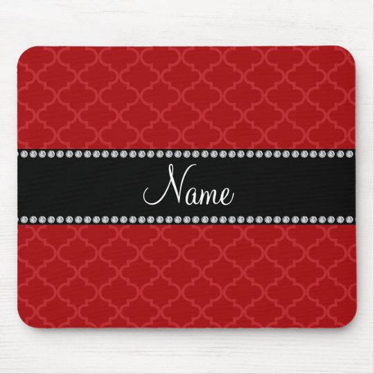 Personalised name Red moroccan Mouse Mat