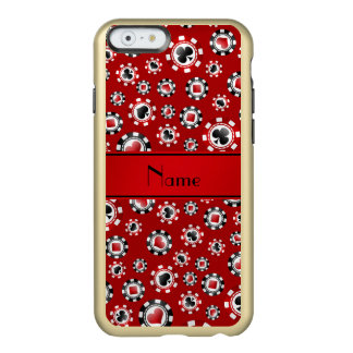 Personalised name red poker chips incipio feather® shine iPhone 6 case