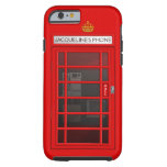 Personalised Name Red Telephone Box iPhone 6 case Tough iPhone 6 Case