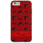 Personalised name red wrestling silhouettes tough iPhone 6 plus case