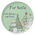 personalised name santa cookie plates