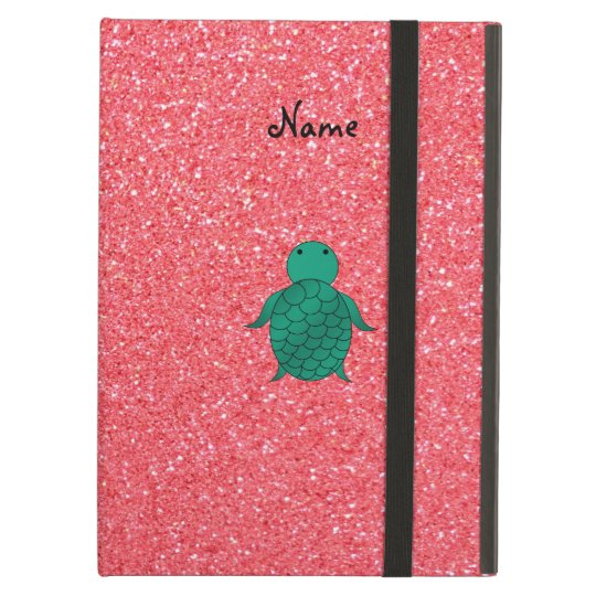 Personalised name seat turtle pink glitter iPad air