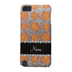 Personalised name silver glitter basketballs iPod touch (5th generation) case