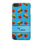 Personalised name sky blue hamburgers fries dots iPod touch 5G cover