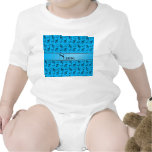 Personalised name sky blue music notes