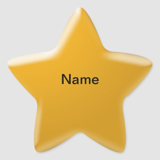 Personalised Name Star Sticker