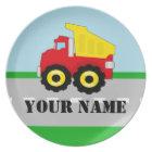 Personalised Name Truck Kids Plate