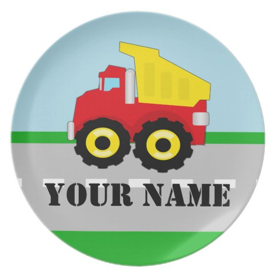 Personalised Name Truck Kids Plate