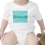 Personalised name turquoise chevrons