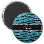 Personalised name turquoise zebra stripes