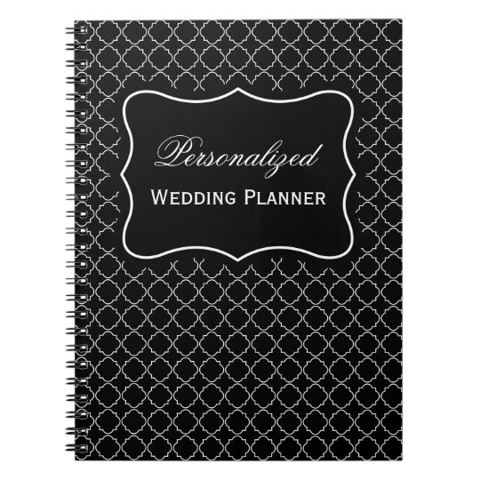 Personalised name wedding planner spiral notebook