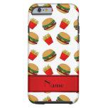 Personalised name white hamburgers fries tough iPhone 6 case