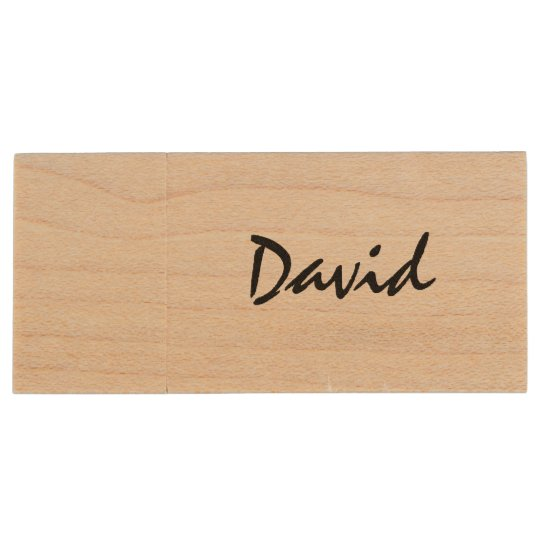 Personalised name wooden USB stick flash drive Wood