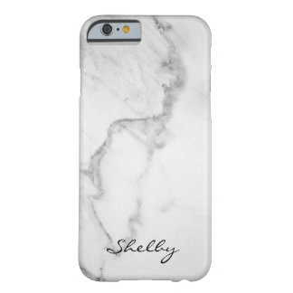 Personalised Named Carrara Marble iPhone 6/6s Case