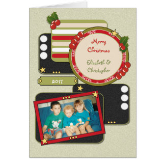 Personalised names Christmas photo Card