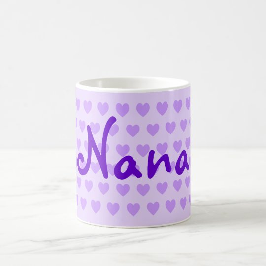 Personalised Nana in Purple Coffee Mug