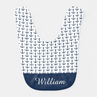 Personalised Nautical Baby Boy Bib