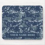 Personalised Navy Digital Camouflage Mousepad