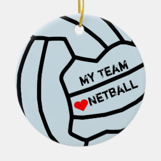 Personalised Netball Ball Design Christmas Ornament