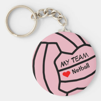 Personalised Netball Ball Design Keyring