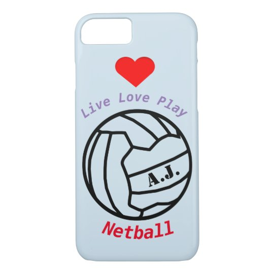Personalised Netball Ball Theme and Quote iPhone 7