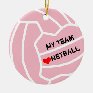 Personalised Netball Ball Theme Christmas Ornament