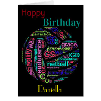 Personalised Netball Player Inspirational Birthday Card